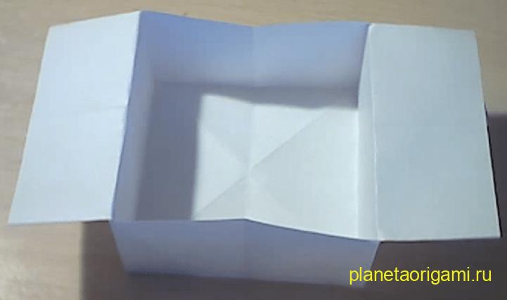 Модель для детей, коробочка оригами