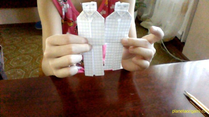 Человечек из бумаги