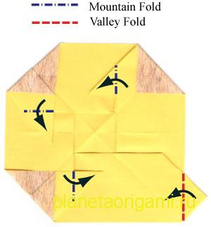 оригами лев  15