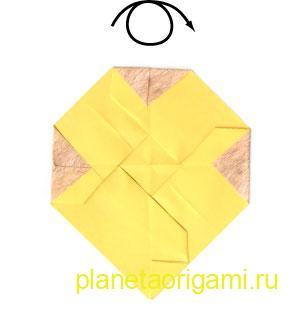 оригами лев 17
