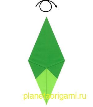 оригами-схема ёлки
