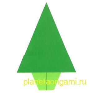 оригами-ёлка