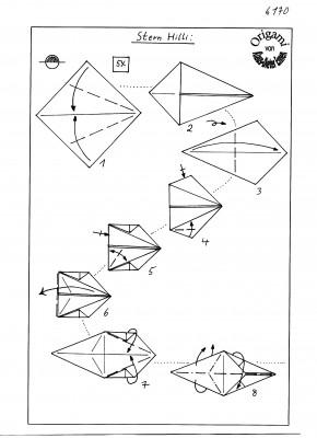схема оригами звезда