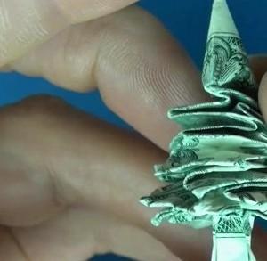 елочка из доллара
