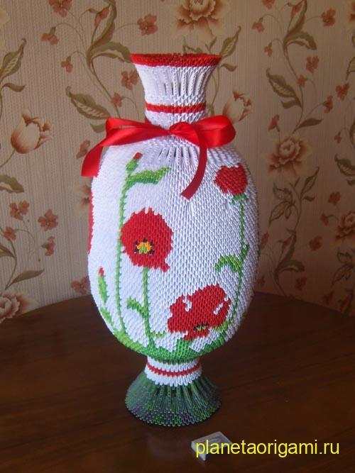 большая напольная ваза из