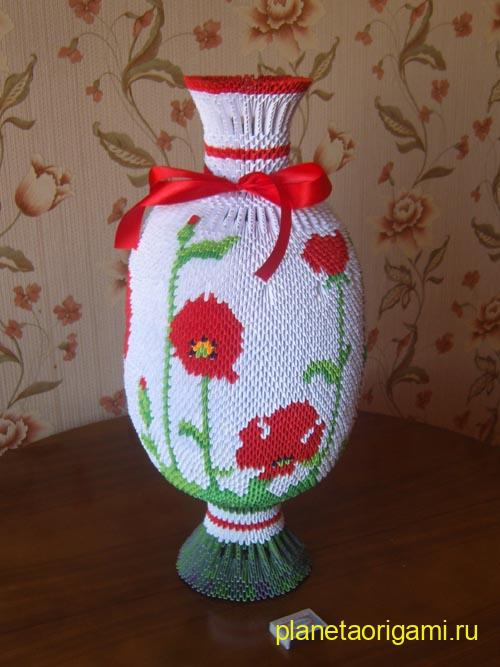 напольная ваза из модулей
