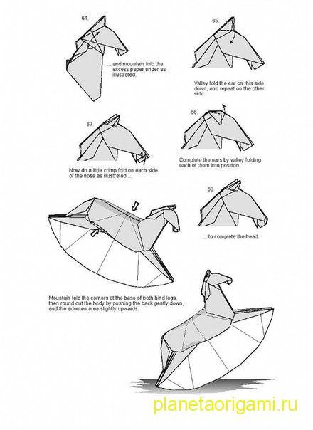схема сборки коня качалки