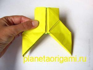 Оригами снегурочка из модулей, сборка головы и короны