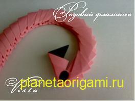 сборка модульного розового фламинго