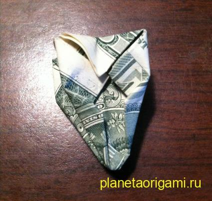 Оригами цветок из денег своими руками 89