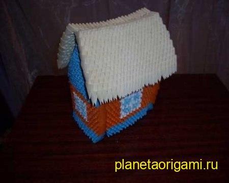 модульный домик оригами
