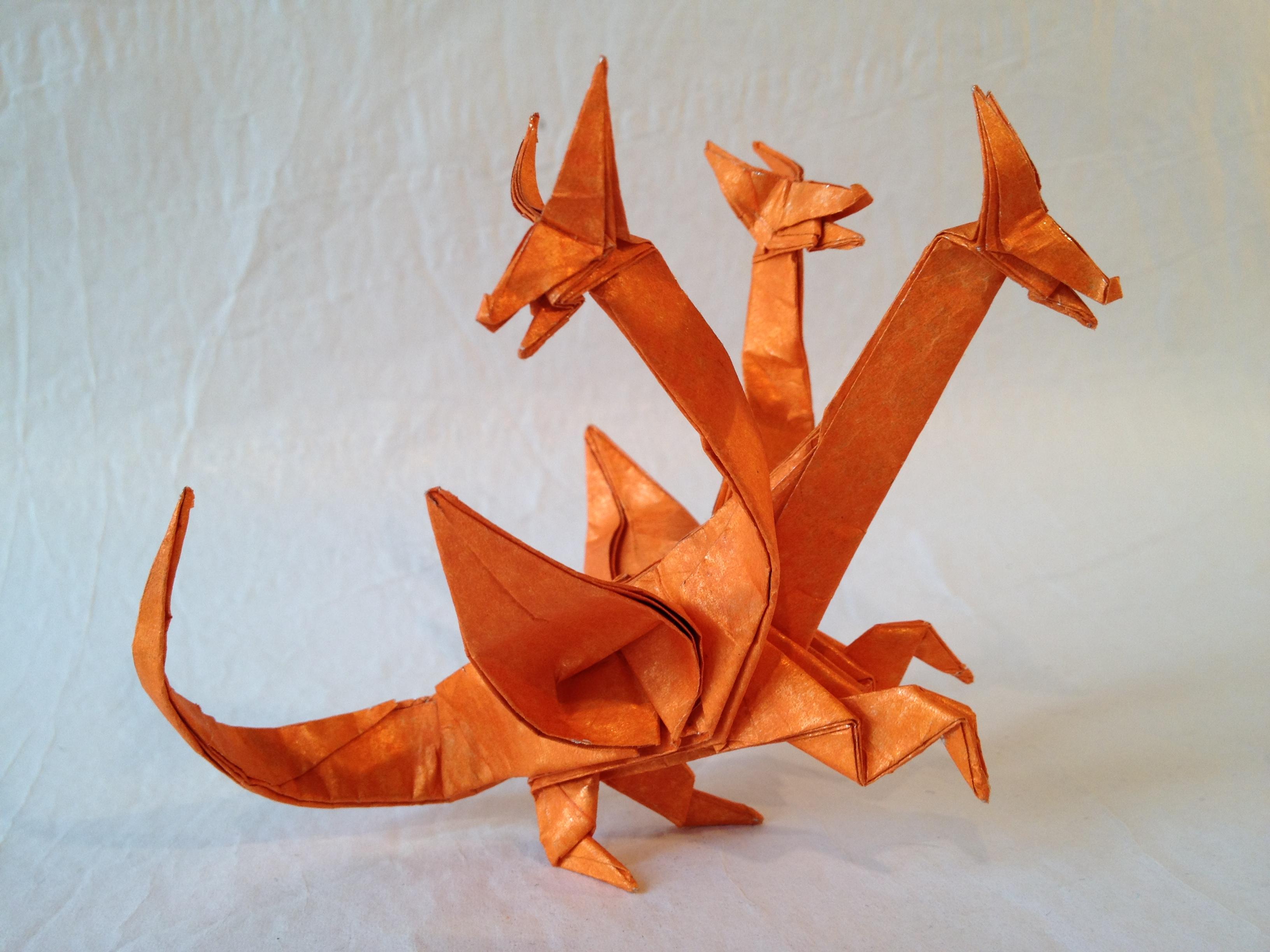 Оригами драконы