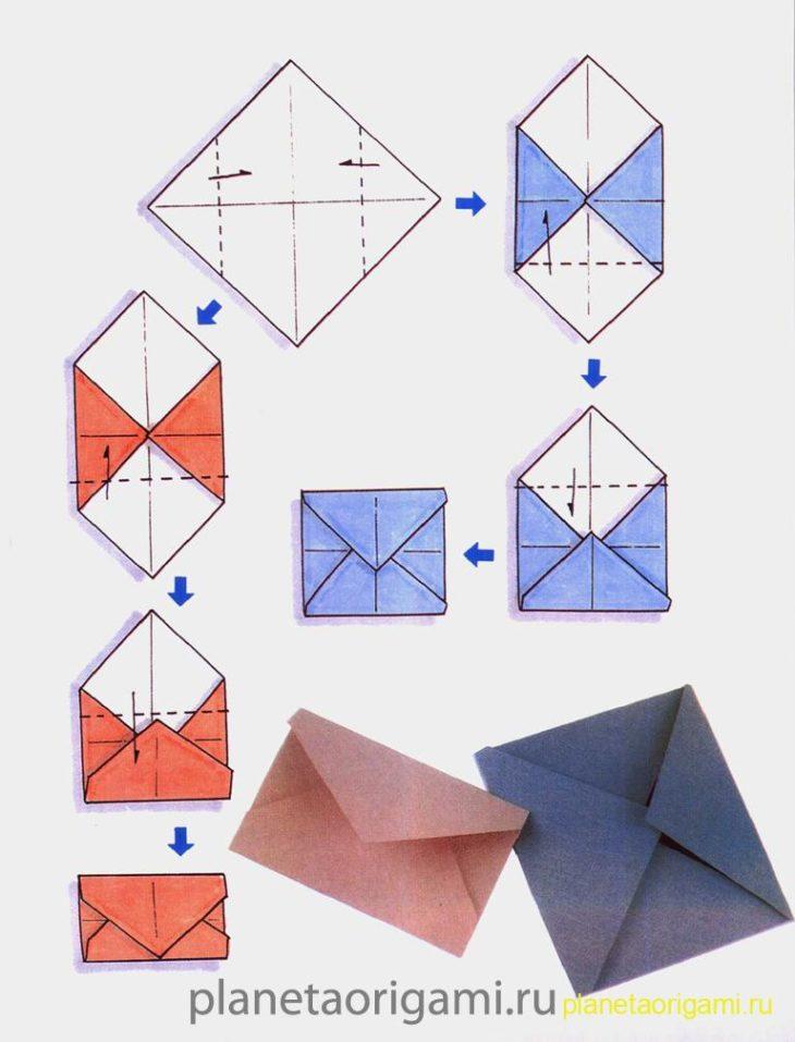 Оригами схема конверт
