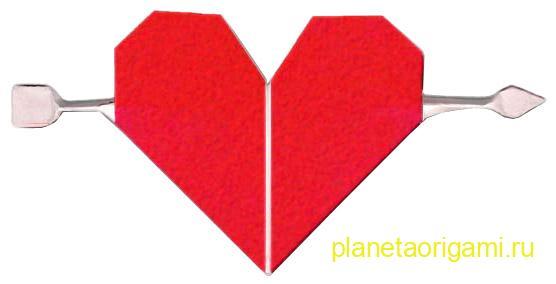 Оригами сердечко к 14 февраля
