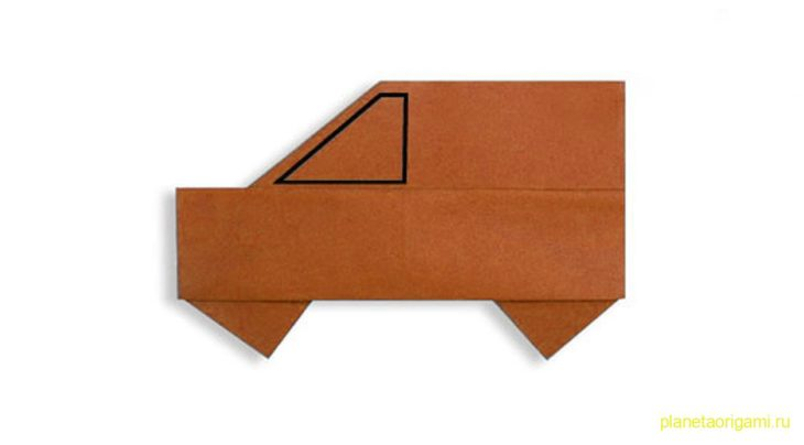 Оригами простой автомобиль