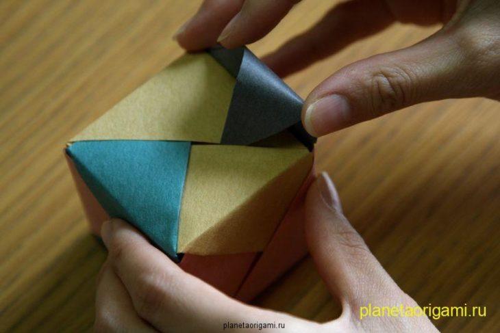 куб оригами схема