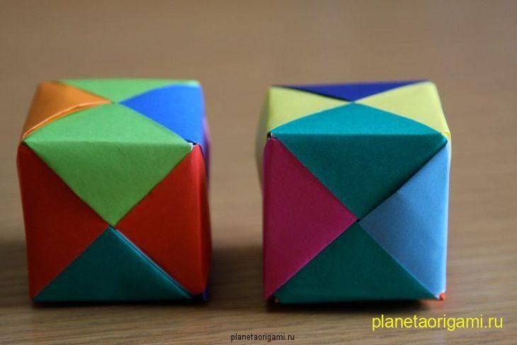 Оригами кубы и модулей