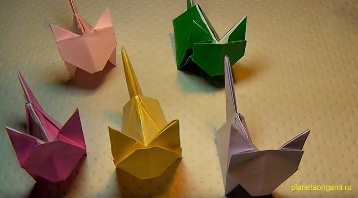 Оригами котенок по схеме Джо Накашима (Jo Nakashima)
