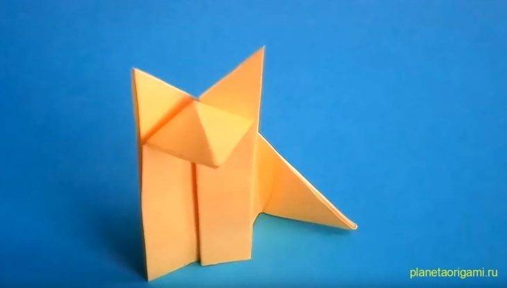 Оригами из бумаги лиса схема фото 956