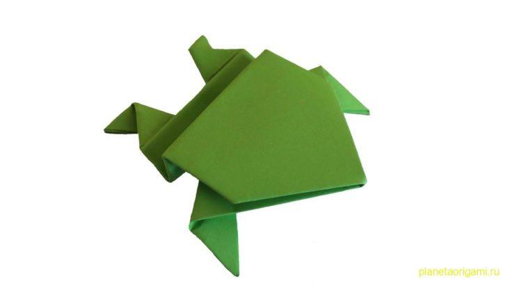 Оригами прыгающая лягушка