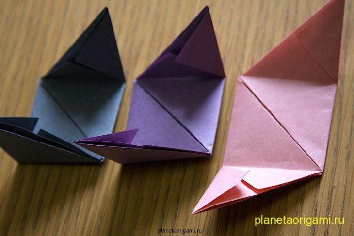 Куб из бумаги оригами