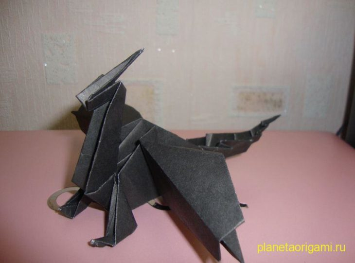 Дракон оригами