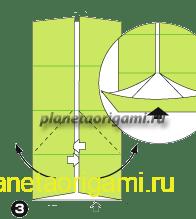 Шаг 3 сборки оригами колеса