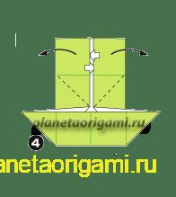 Шаг 4 сборки оригами колеса