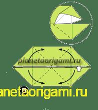 Шаг 5 сборки оригами колеса