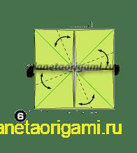 Шаг 6 сборки оригами колеса