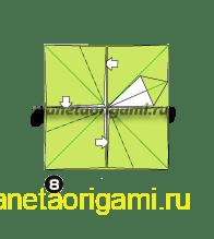 Шаг 8 сборки оригами колеса