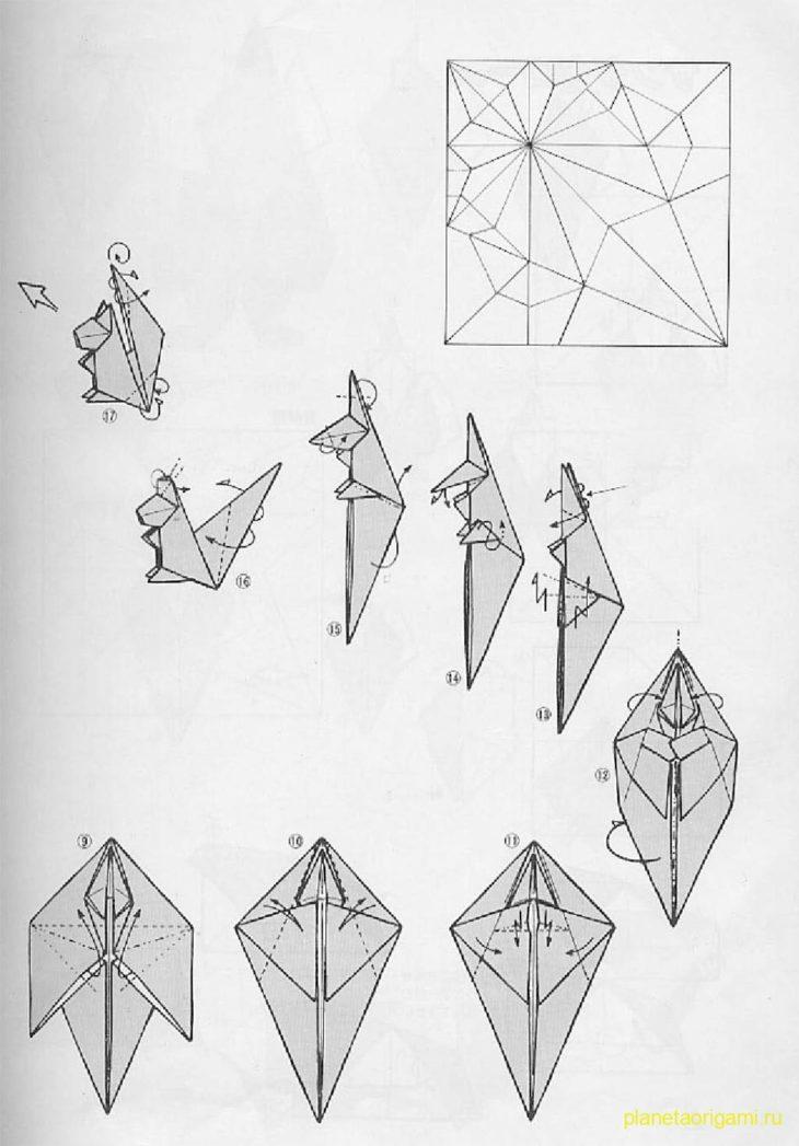Оригами схемы белки