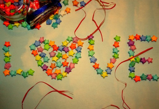 Звезды из разноцветной бумаги