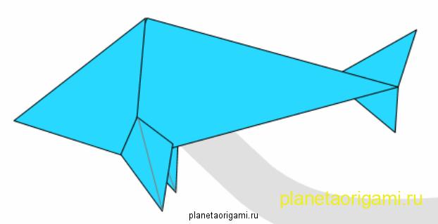 Схемы оригами для детей: Рыбка