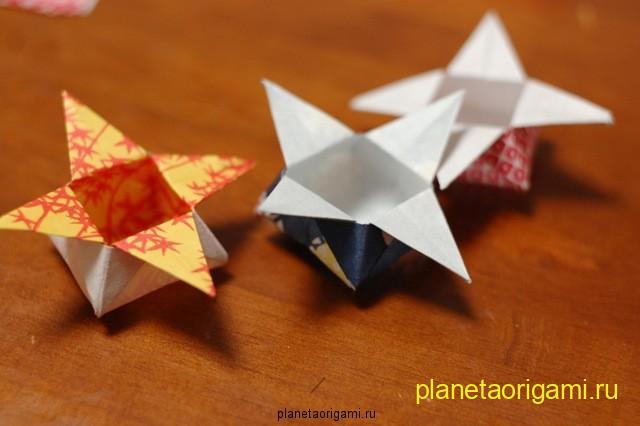 Стильная оригами коробочка из