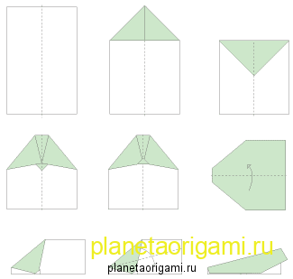 оригами самолетики из бумаги схема