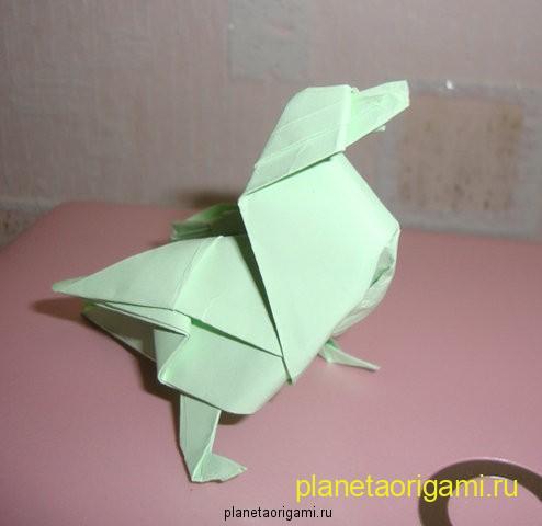 Птичка оригами
