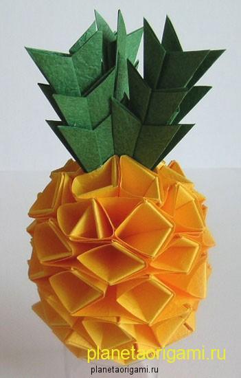 оригами из модулей попугай.
