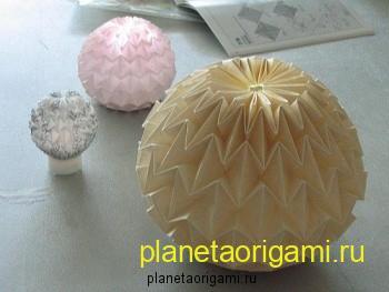 Волшебный шар оригами