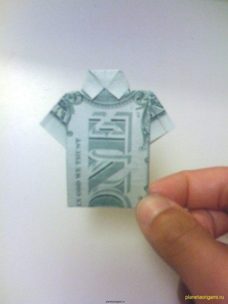 Как сделать рубашку из купюры. ИНФОРМИ 40