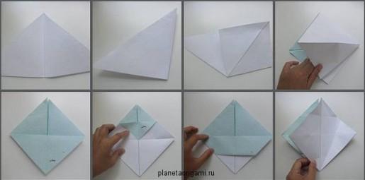 Корзинка оригами схема