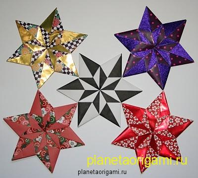 Сегодня в рамках рубрики - модульное оригами схемы сборки, мы будем делать шестиконечную звезду из бумаги.