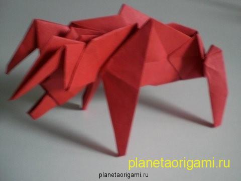 Оригами бык схема: