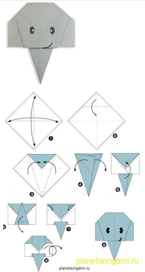 Лёгкие оригами для детей