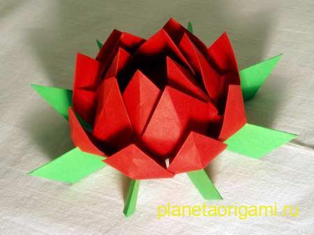 Оригами цветок лотоса -