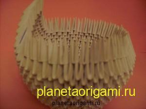 лебедь модульное оригами