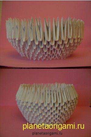 Модульное оригами лебедь схема