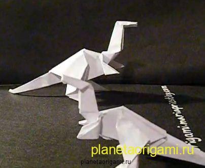 Как сделать Дракона из бумаги или Бумажный Динозавр оригами.
