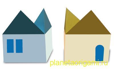 Домик оригами для детей