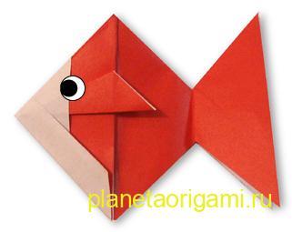 золотая рыбка оригами